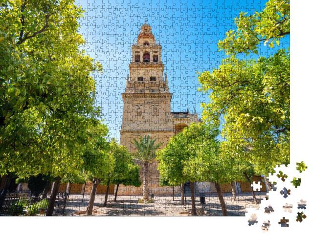 """Puzzle 1000 Teile """"Berühmter Glockenturm der Mezquita-Moschee in Córdoba, Andalusien"""""""