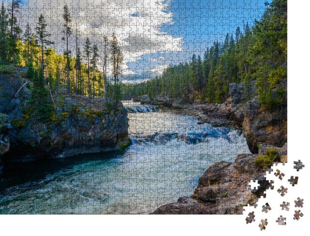 """Puzzle 1000 Teile """"Yellowstone National Park, Wyoming, USA"""""""