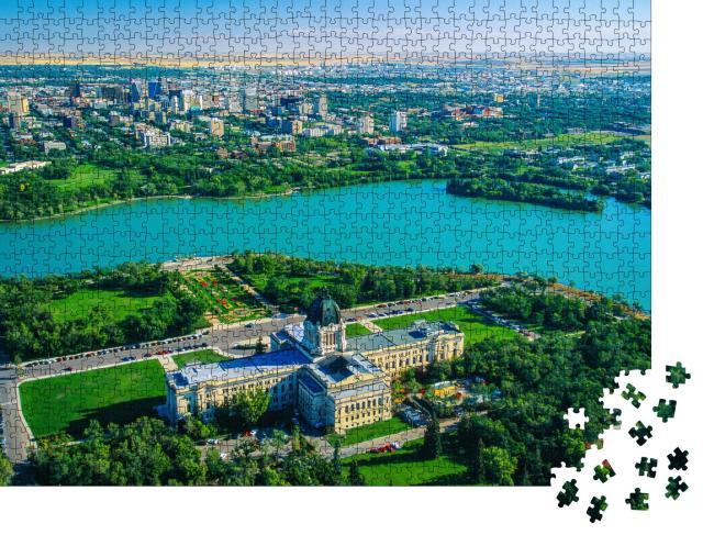 """Puzzle 1000 Teile """"Wunderschöne Stadt Regina in der Provinz Saskatchewan, Kanada"""""""