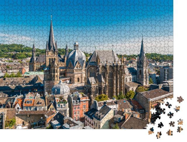 """Puzzle 1000 Teile """"Wunderschöne Stadt Aachen, Deutschland"""""""