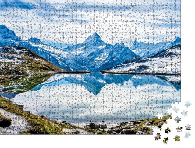 """Puzzle 1000 Teile """"Bachalpsee über Grindelwald, Schweiz"""""""