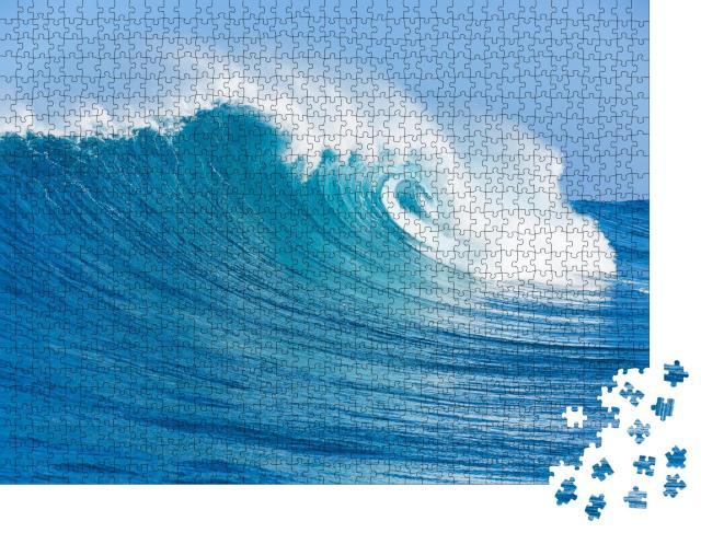 """Puzzle 1000 Teile """"Blaue Ozeanwellen"""""""
