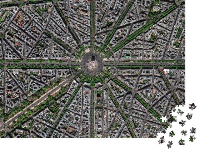 """Puzzle 1000 Teile """"Spektakuläre Luftaufnahme von Paris mit Arc de Triomphe"""""""