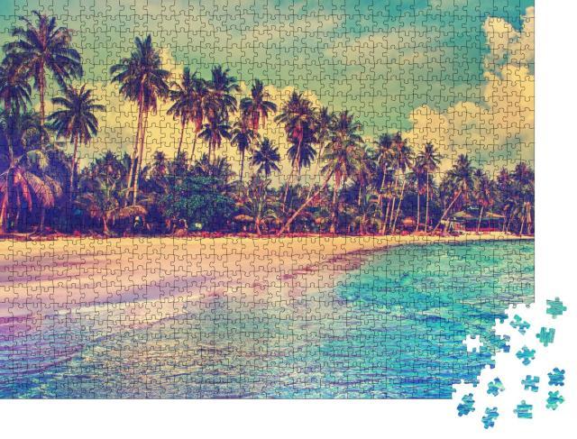 """Puzzle 1000 Teile """"Paradiesische Natur am tropischen Strand"""""""