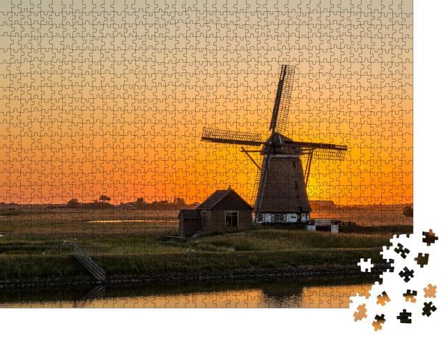"""Puzzle 1000 Teile """"Windmühle auf der Insel Texel, Niederlande"""""""