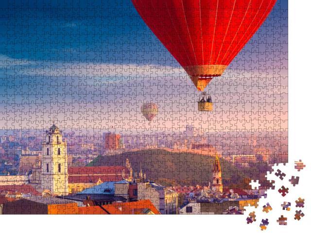 """Puzzle 1000 Teile """"Luftaufnahme von Vilnius, Litauen"""""""