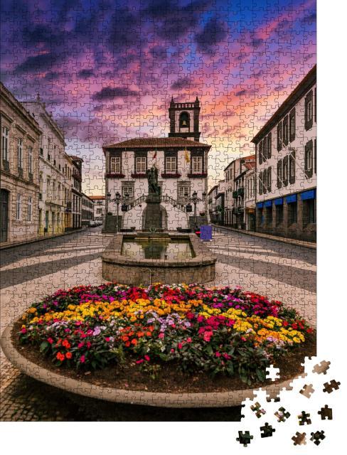 """Puzzle 1000 Teile """"Rathaus in Ponta Delgada, Azoren, Portugal"""""""