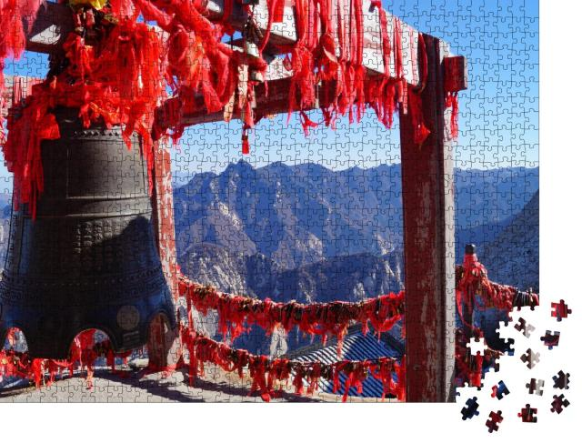 "Puzzle 1000 Teile ""Große Glocke am Hua Shan"""