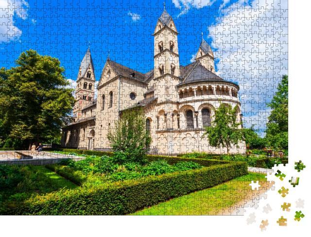 """Puzzle 1000 Teile """"Älteste Kirche in Kolenz: Basilika St. Kastor"""""""
