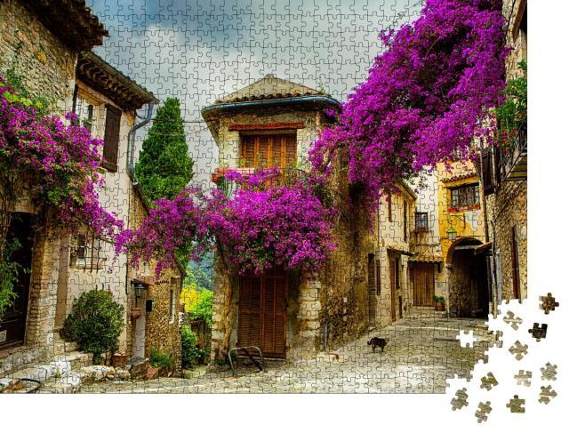 """Puzzle 1000 Teile """"Schöne alte Stadt in der Provence, Frankreich"""""""