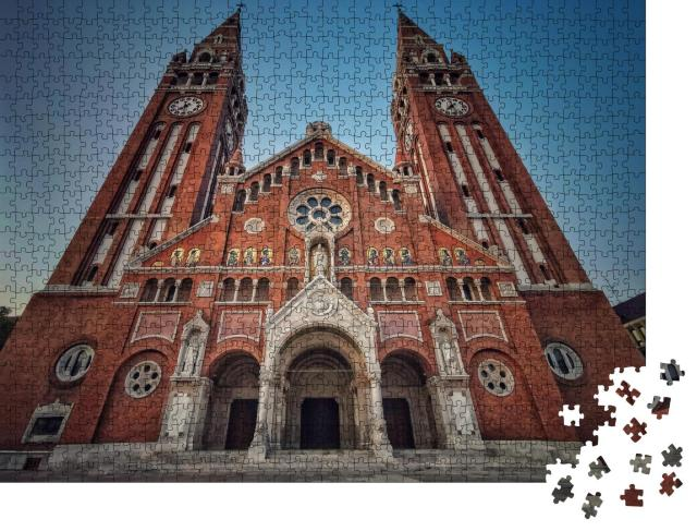 """Puzzle 1000 Teile """"Eine der Schönheiten Ungarns ist die Kathedrale von Szeged"""""""