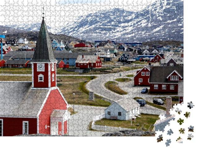 """Puzzle 1000 Teile """"Kathedrale von Nuuk, Hauptstadt von Grönland"""""""