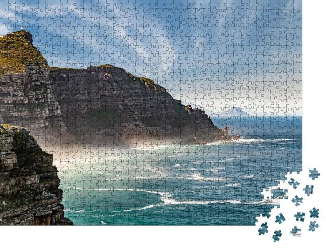"""Puzzle 1000 Teile """"Dramatische Wolken: Kap der guten Hoffnung, Südafrika"""""""