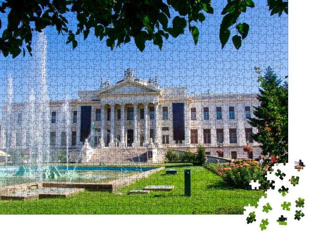 """Puzzle 1000 Teile """"Der schöne blühende Rosengarten von Szeged, Ungarn"""""""