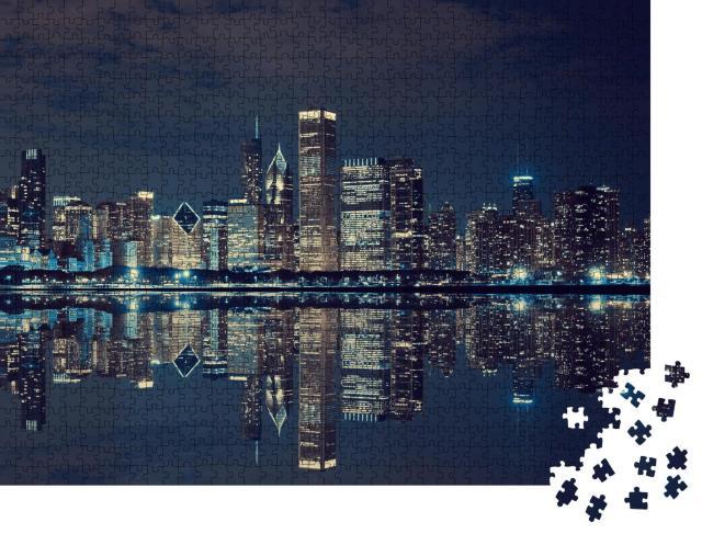 """Puzzle 1000 Teile """"Chicago"""""""