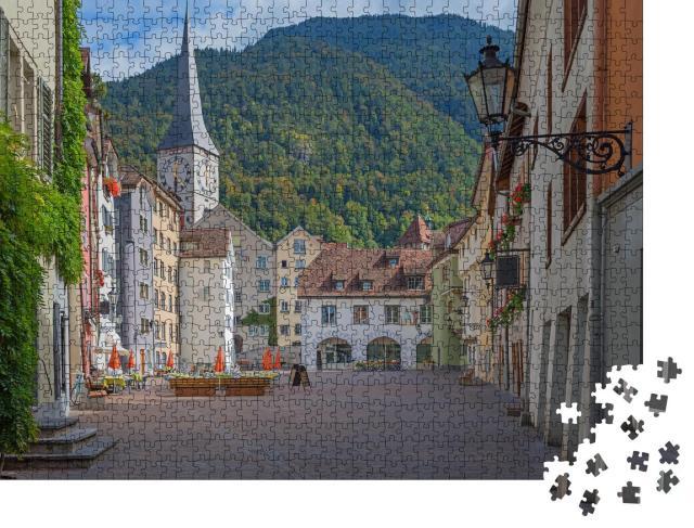 """Puzzle 1000 Teile """"Wunderschöne Altstadt von Chur, Schweiz"""""""