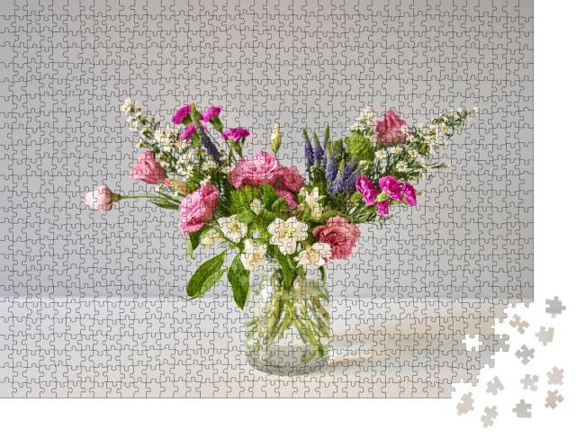 """Puzzle 1000 Teile """"Blumenstrauß, Set für zu Hause"""""""