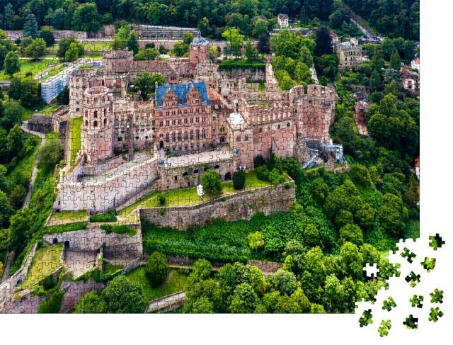 """Puzzle 1000 Teile """"Schloss Heidelberg von oben, Deutschland"""""""
