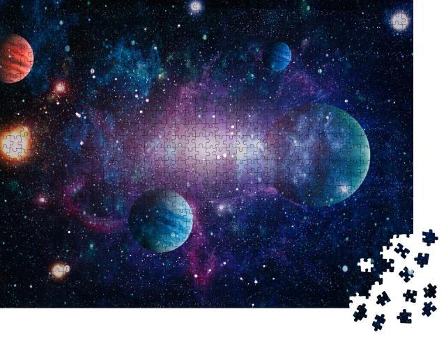 """Puzzle 1000 Teile """"Ein kleiner Teil des Universums, NASA-Bildmaterial"""""""
