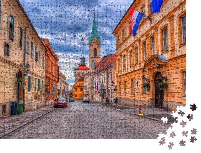 """Puzzle 1000 Teile """"Gornij Grad, Oberstadt von Zagreb"""""""