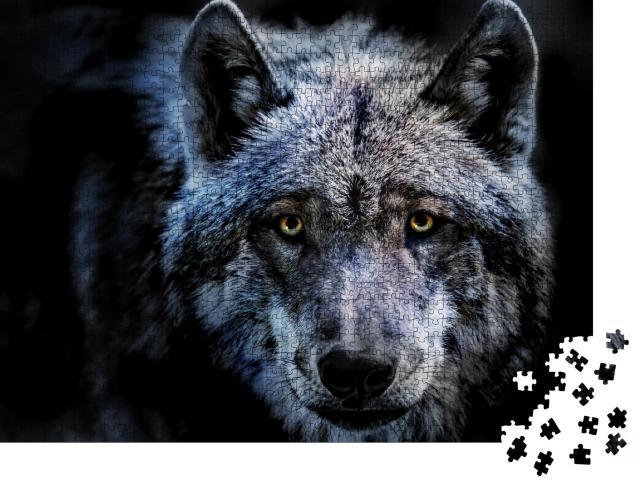 """Puzzle 1000 Teile """"Porträt eines Wolfes"""""""