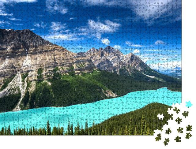 """Puzzle 1000 Teile """"Atemberaubender Peyto Lake im Banff National Park, Kanada"""""""