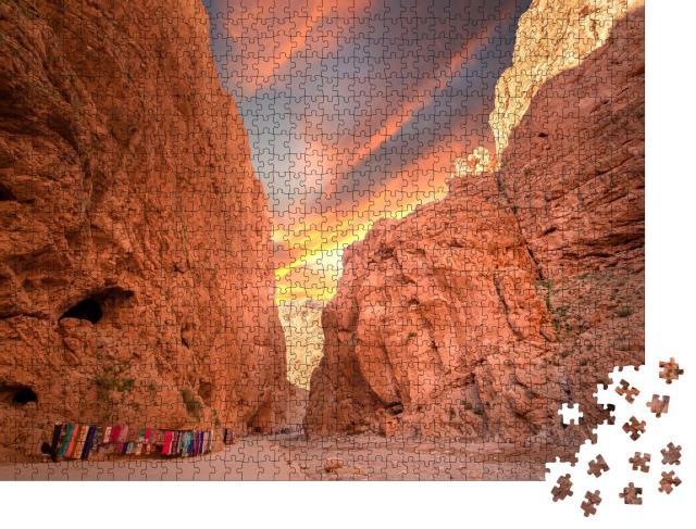 """Puzzle 1000 Teile """"Todgha-Schlucht in Marokko"""""""