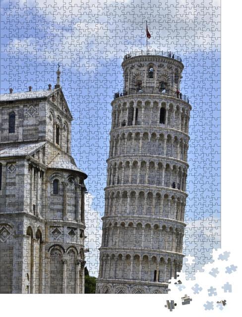 """Puzzle 1000 Teile """"Wahrzeichen von Pisa: Der schiefe Turm"""""""