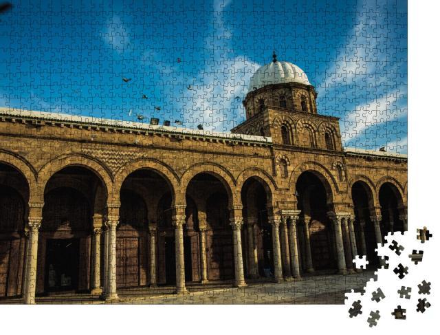 """Puzzle 1000 Teile """"Zaytuna-Moschee zur blauen Stunde, Tunis"""""""