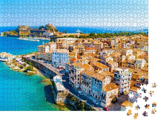 """Puzzle 1000 Teile """"Panoramablick auf Kerkyra, Hauptstadt der Insel Korfu, Griechenland"""""""