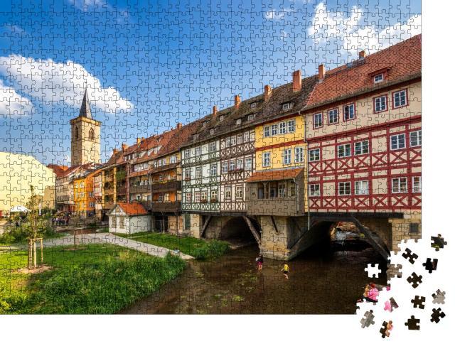 """Puzzle 1000 Teile """"Krämerbrücke, Erfurt"""""""