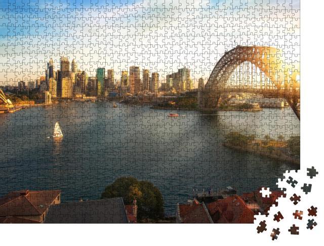 "Puzzle 1000 Teile ""Panoramablick auf Sydney"""