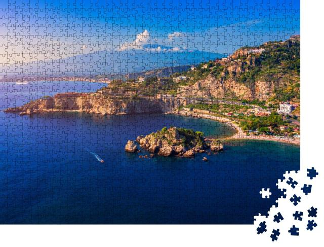 "Puzzle 1000 Teile ""Ätna über Taormina, Sizilien"""