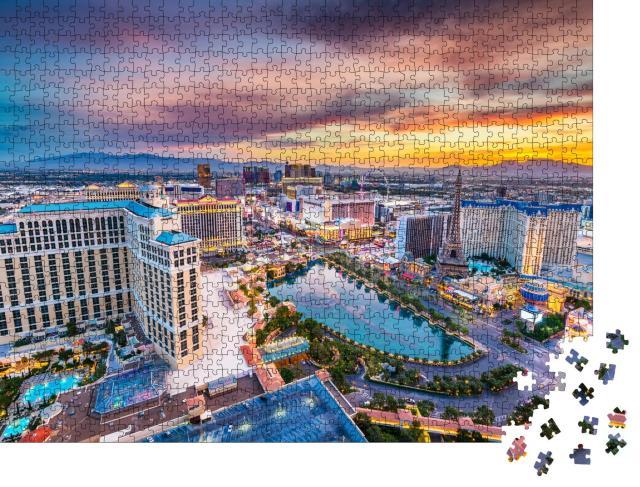 """Puzzle 1000 Teile """"Strip von Las Vegas in Nevada, USA"""""""