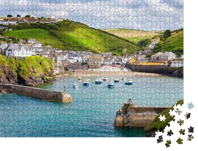 """Puzzle 1000 Teile """"Fischerdorf Port Isaac an der Küste von North Cornwall, England"""""""