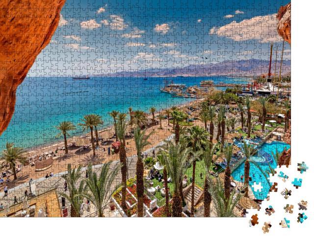 """Puzzle 1000 Teile """"Sommer am Strand von Eilat, Israel"""""""