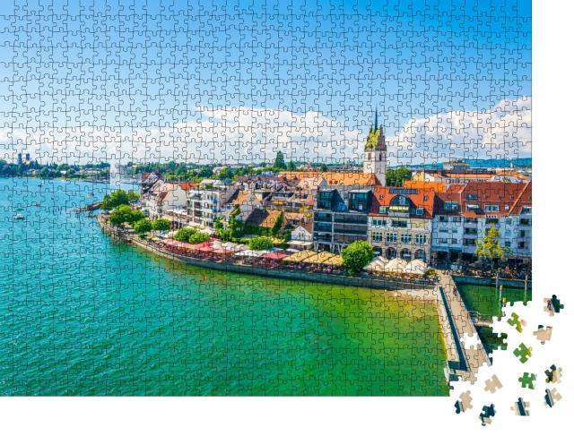 """Puzzle 1000 Teile """"Panorama vom Yachthafen der Stadt Friedrichshafen, Zermatt"""""""