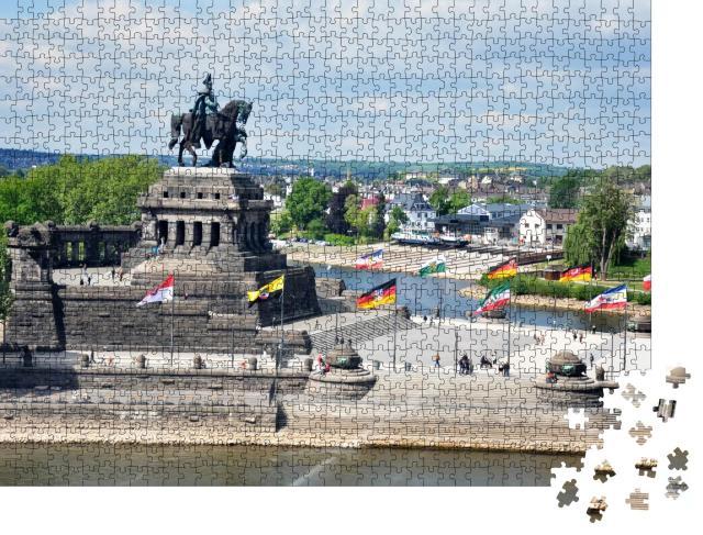 """Puzzle 1000 Teile """"Koblenz: Stadt, Deutschland, Rheinland-Pfalz"""""""