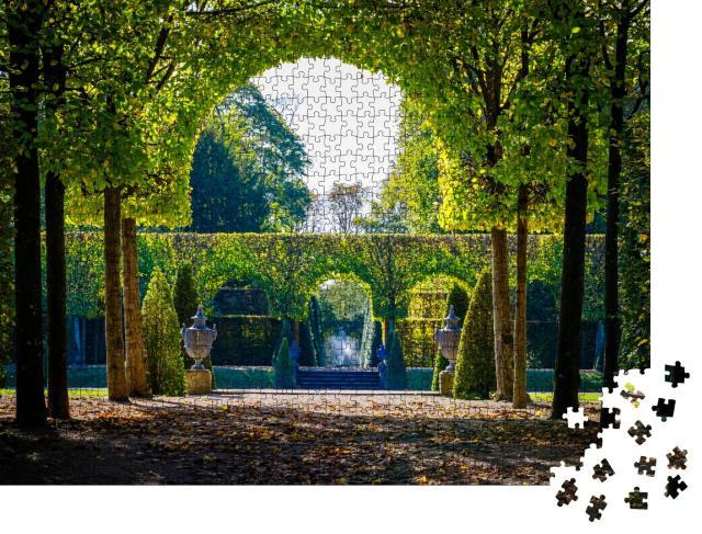 """Puzzle 1000 Teile """"Grüne Bäume im Schwetzinger Schlossgarten, Baden Württemberg"""""""