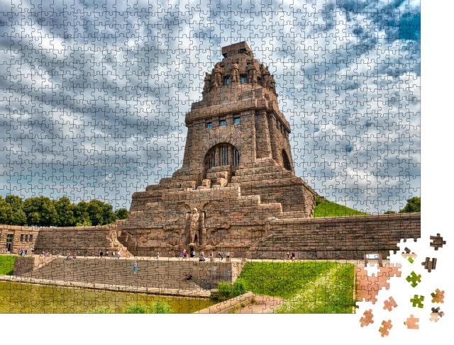 """Puzzle 1000 Teile """"Völkerschlachtdenkmal, Leipzig, Deutschland."""""""