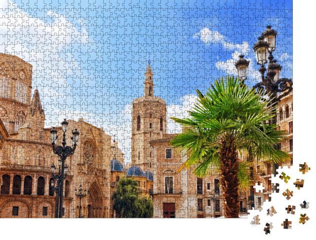 """Puzzle 1000 Teile """"Altstadt und Kathedrale von Valencia, Spanien"""""""