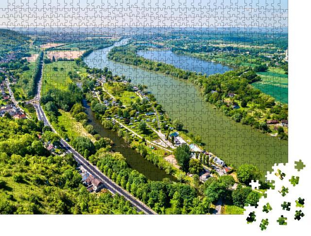 """Puzzle 1000 Teile """"Die Seine bei Chateau Gaillard in der Normandie, Frankreich"""""""
