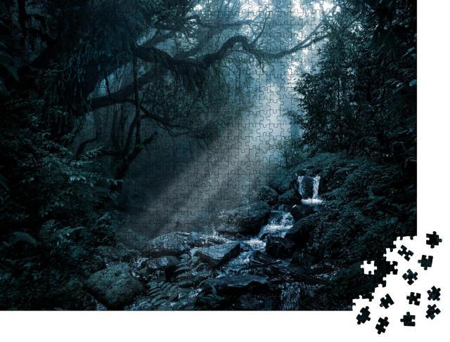 """Puzzle 1000 Teile """"Tiefer tropischer Dschungel in der Dunkelheit"""""""