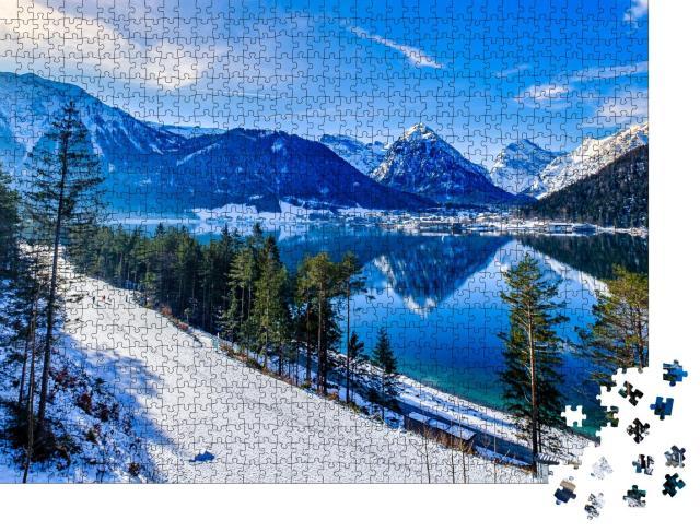 """Puzzle 1000 Teile """"Achensee und Pertisau im Winter, Österreich"""""""