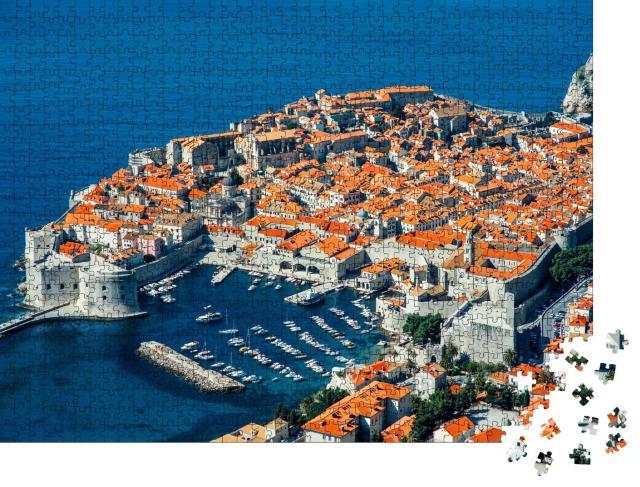"""Puzzle 1000 Teile """"Dubrovnik von oben, Kroatien"""""""