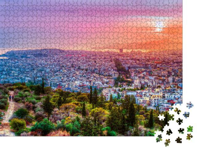 "Puzzle 1000 Teile ""Athen im Sonnenuntergang"""