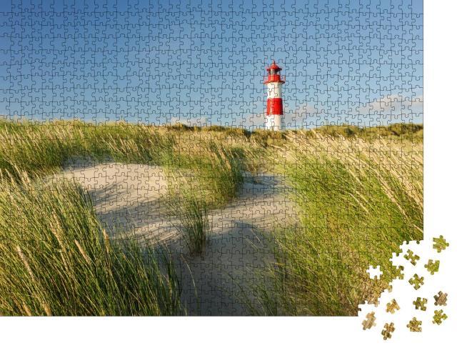 """Puzzle 1000 Teile """"Leuchtturm List Ost am Ellenbogen, Sylt, Schleswig-Holstein"""""""