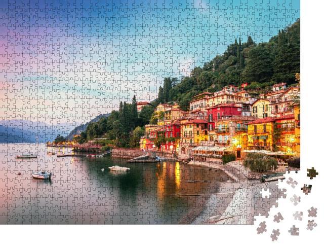 "Puzzle 1000 Teile ""Bezauberndes Varenna am Comer See, Italien"""