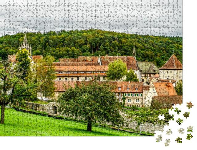 """Puzzle 1000 Teile """"Altes, wunderschönes Kloster Bebenhausen im Schönbuch"""""""