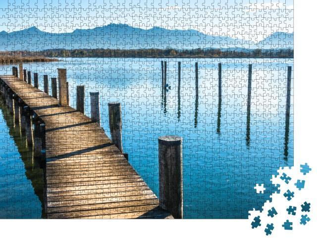 """Puzzle 1000 Teile """"Landschaft am Chiemsee, Bayern """""""